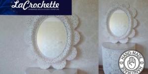 La Crochette | Crochet Console + Mirror Frame
