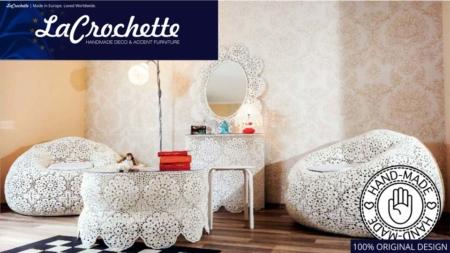 La Crochette  |  Crochet Furniture Set